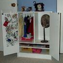 Cabinet for American Girl Dolls good idea:)