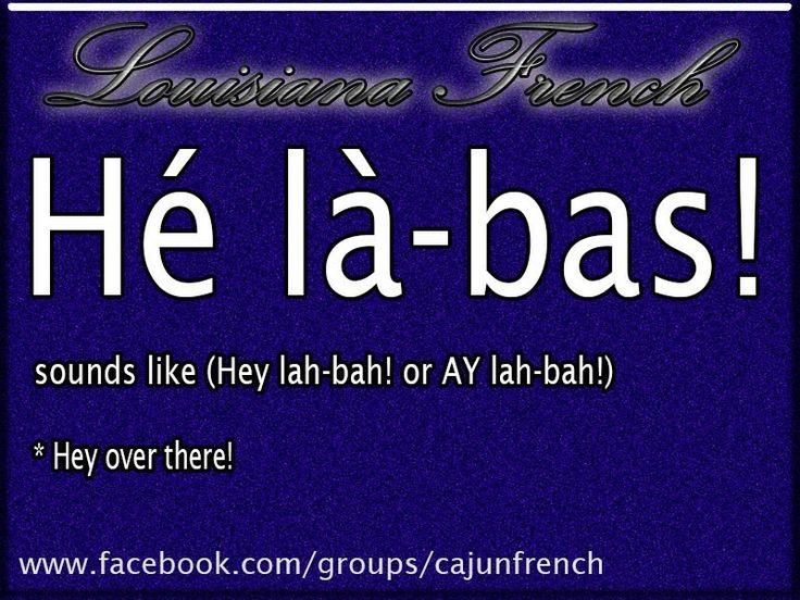 Cajun french - I went on down to the Audubon Zoo - he la bas
