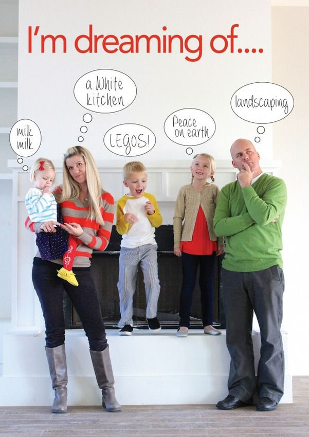 Creative family christmas card photo ideas