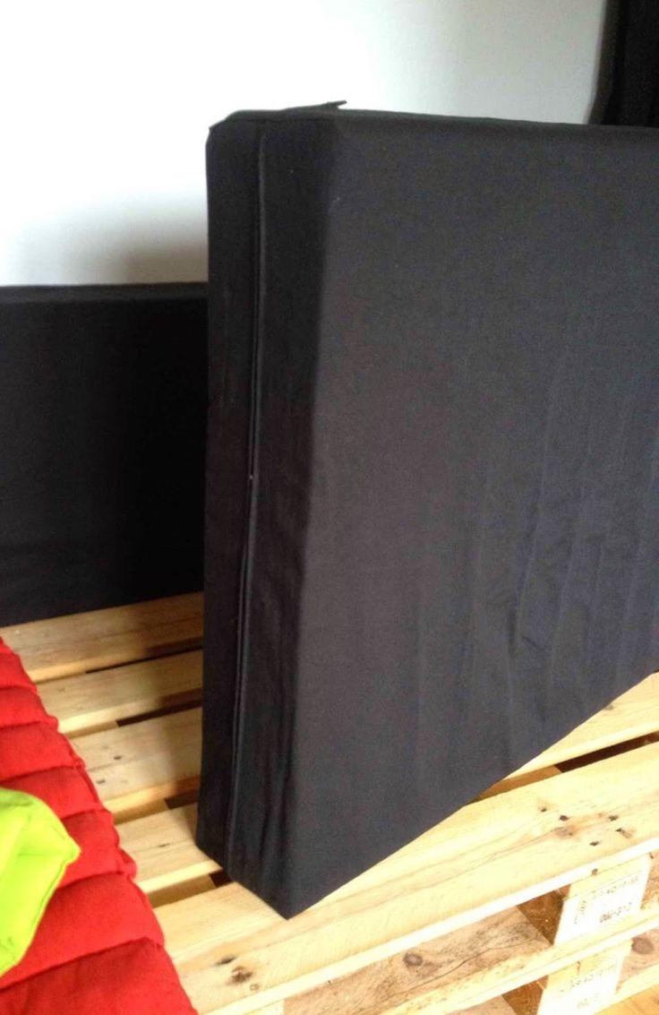 4 housses de mousse pour canap en palette carr es avec for Housse isotherme pour palette