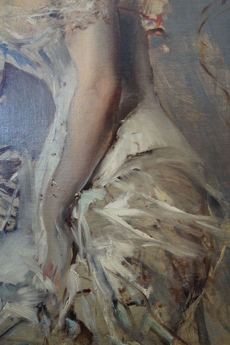 """Portrait of Alice Regnault"" (detail) - 1880, Giovanni Boldini (Italian, 1942-1931)."