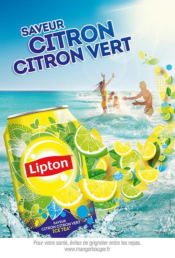 Lipton Ice Tea by frederic fuchs, via Behance