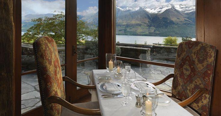 Elegant lake view dining at Blanket Bay