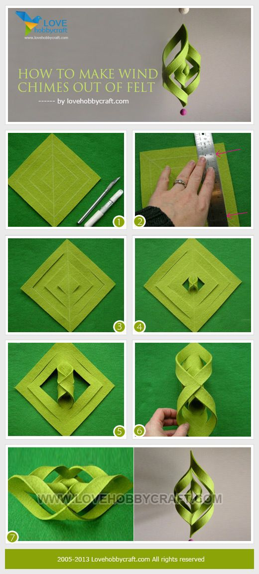 How To Make Wind Chimes Out Of Felt Gotta Try This With A