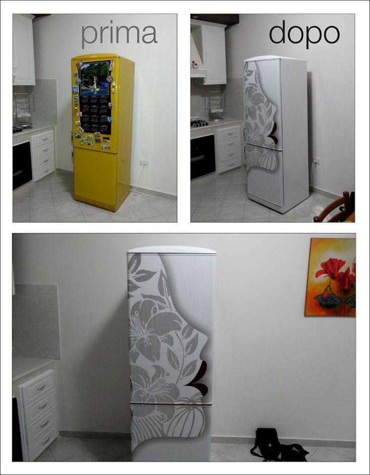 restyling vecchio frigorifero