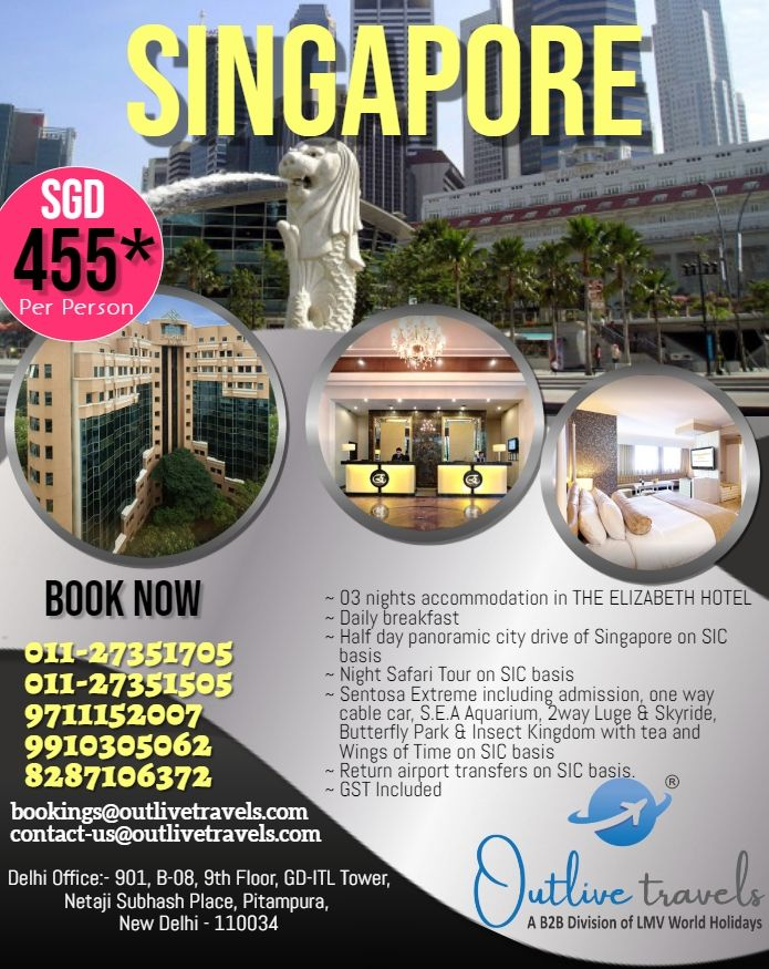 Amazing 3n 4d The Elizabeth Hotel Singapore Package
