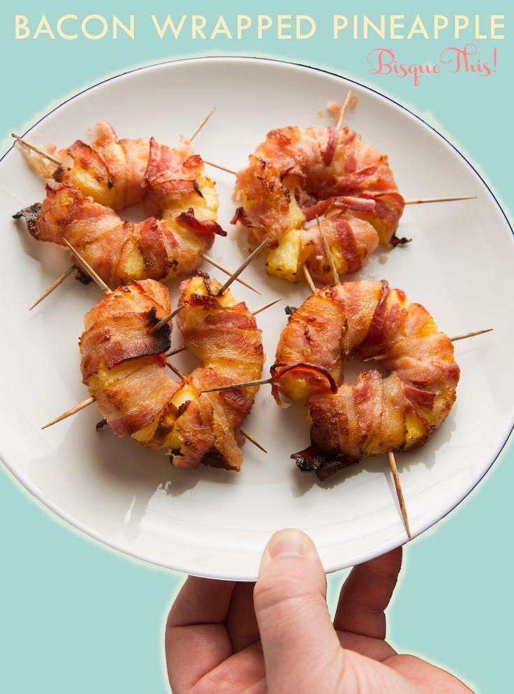 Bacon Wrapped Pineapple Rings #Recipe - These are so good! #appetizer #dinner…