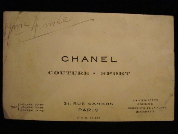 Branding Business Card Chanel Julie De La Playa Fashion Business Cards Classic Business Card Vintage Business Cards