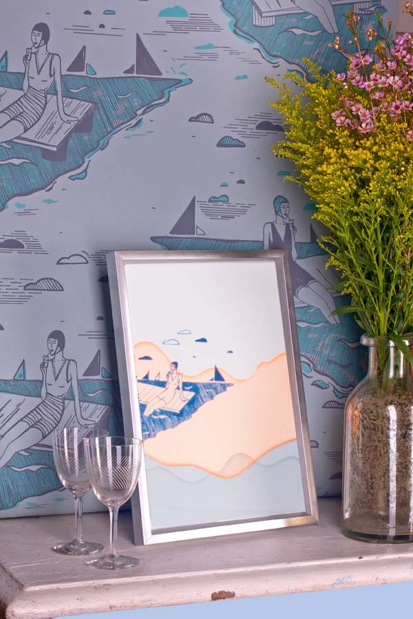 Addicted to Patterns hand crafted wallpapers #interiordesign http://addictedtopatterns.uk/project/retro-swimmers/