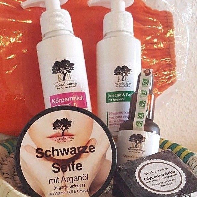 Arganöl biobedouinen Geschenkkorb ,für Haut,Haare ,Peeling.6-teilig