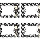 "I created these blank zebra labels to use as ""cubby tags"" in my zebra themed classroom. They could also be used as name tags or supply labels...."