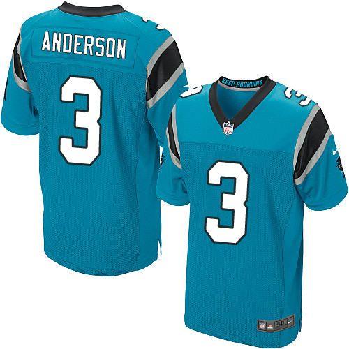 $24.99 Nike Elite Derek Anderson Blue Men's Jersey - Carolina Panthers #3 NFL Alternate