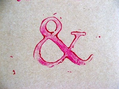Pink print.: Colors Bleeding, Fabrics Prints, Pink Prints, Stamps Pink, Ampersand