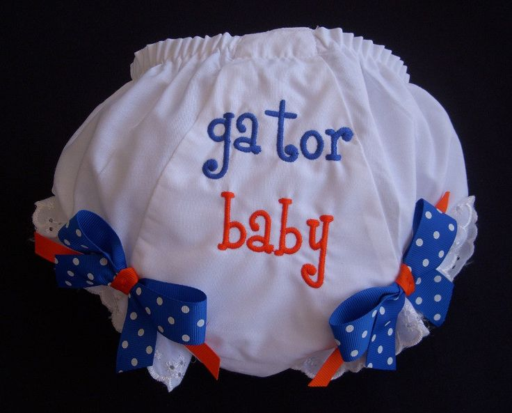 Florida Gator Diaper Cover. $13.99, via Etsy.