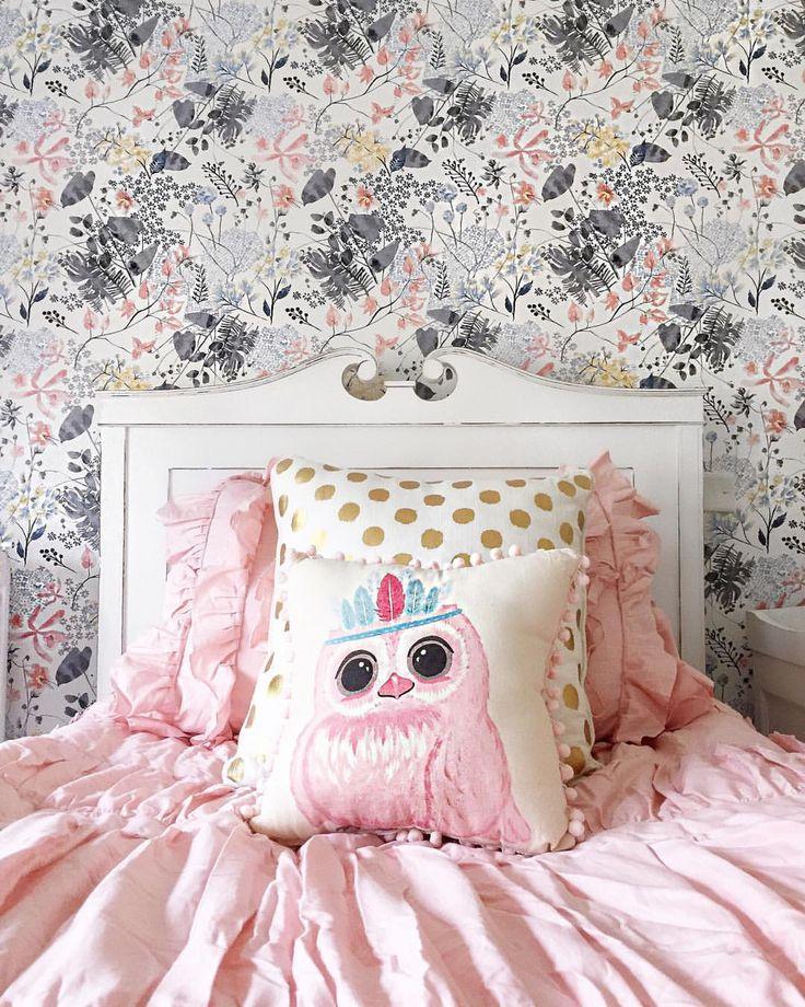 Anthropologie Rose Petal Wallpaper Home Decor Bedding