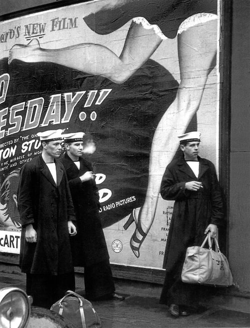 Sailors on leave in London's West End, 1951 Photo by Thurston Hopkins