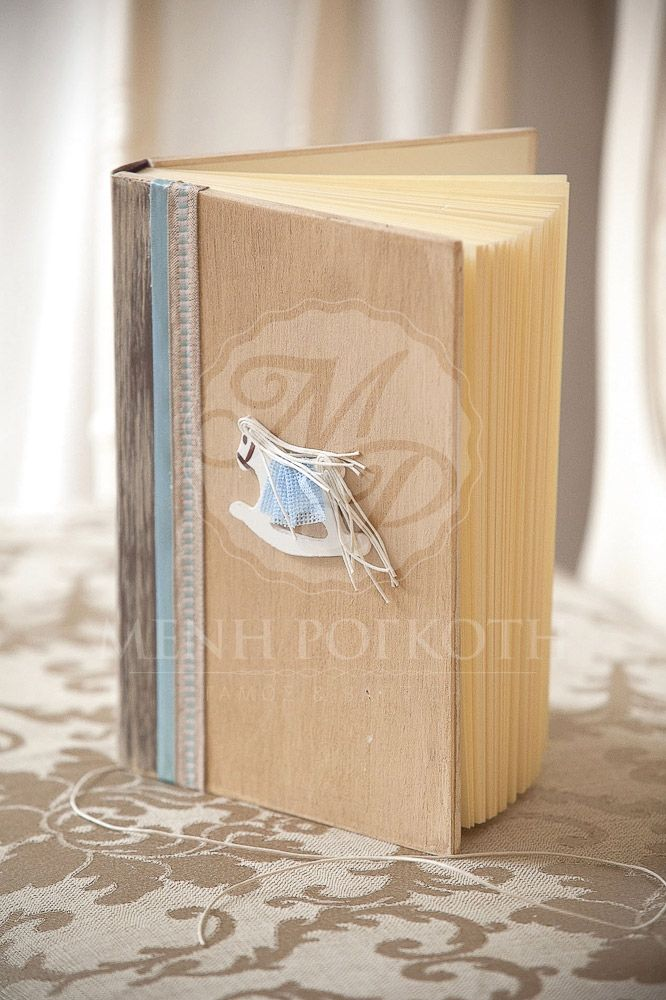 Wooden guest book rocking horse