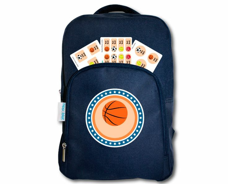 KIDS BLUE BACKPACK Our back packs are stylish, quality made and 100% useful for your kids first bag!  Sized to fit them like a glove with room to grow, with two compartments to fit their lunch bag, books, pencil case & stationery.  FREE labels come in 3 different sizes  for labelling books, containers and sports gear.