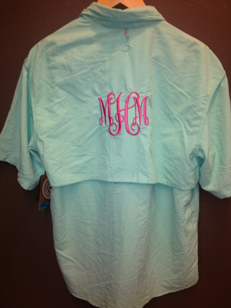Monogram fishing shirt swimsuit cover up monogram for Monogram fishing shirt