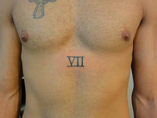 I want this roman numeral 7 somewhere in my body