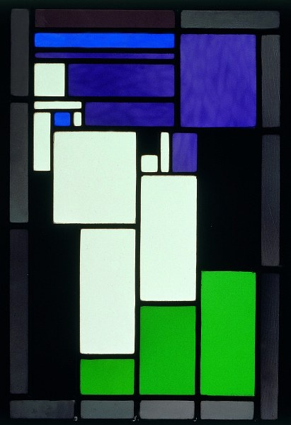 Theo van Doesburg Stained-Glass Composition Female Head 1917 Kröller-Müller Museum, Otterlo
