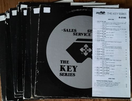 10-Wm-B-Tanner-Media-General-Broadcasting-Jingles-Vintage-Vinyl-Advertising-Lot