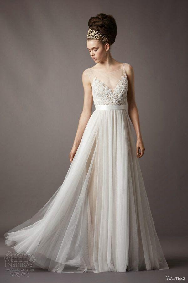 Nice Majestic lace and chiffon wedding dress with amazing hairstyle