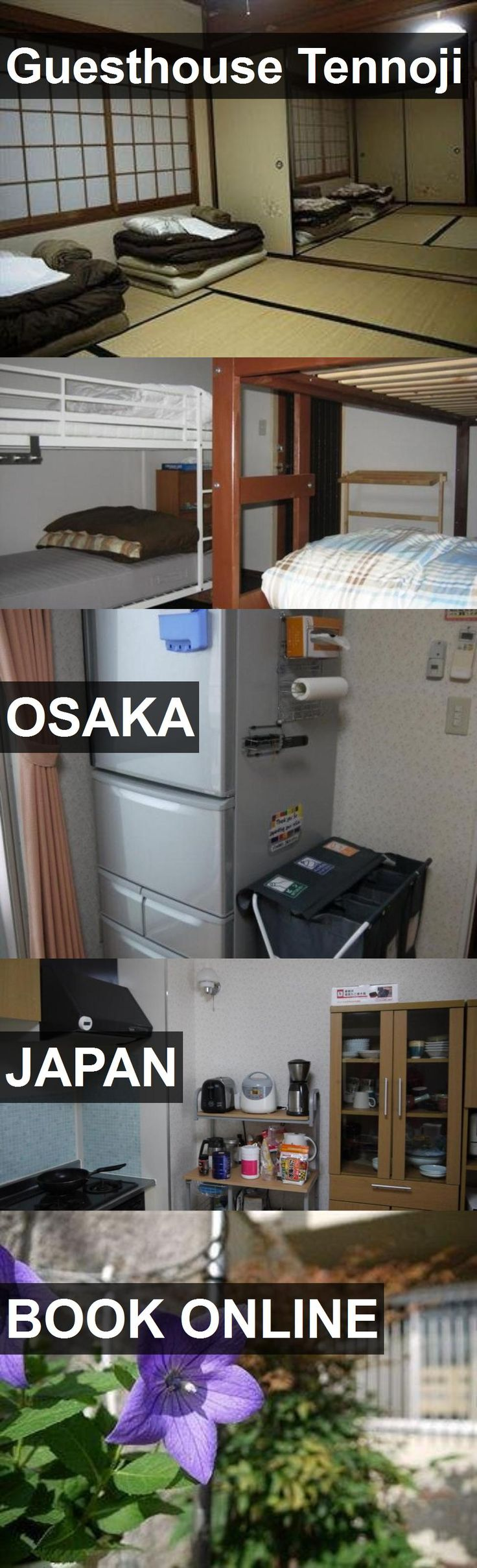 Hotel Guesthouse Tennoji in Osaka, Japan. For more information, photos, reviews and best prices please follow the link. #Japan #Osaka #travel #vacation #hotel
