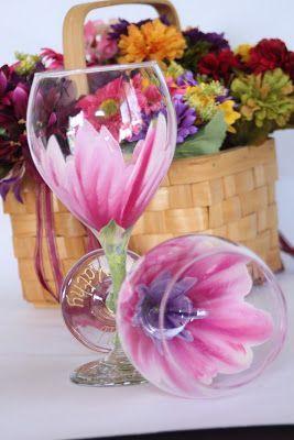 Painting glassware idea