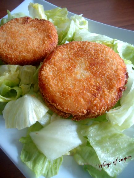 Medaglioni di patate speck e mozzarella