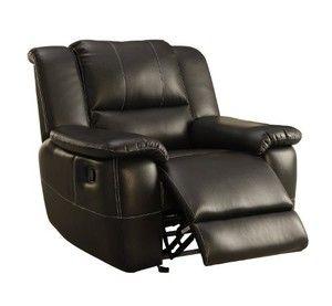 Homelegance 9778BLK-1 Upholstered Bonded Leather Glider Chair, Black
