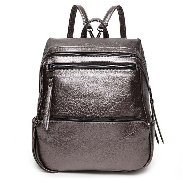 32.79$  Know more - http://aisof.worlditems.win/all/product.php?id=32703222069 - 2016 High Quality Leather Women Backpack Famous Designer Brand School Bag for Teenager Girls Travel Military Shoulder Bolso