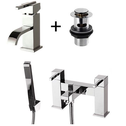 Epic Bathroom Tap Set Basin Tap Bath Tap Shower Head - Product Code: EP001-EP007 only for £85.00