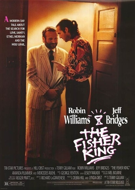 The Fisher King (1991) Terry Gilliam.  Robin Williams, Jeff Bridges, and Amanda Plummer.
