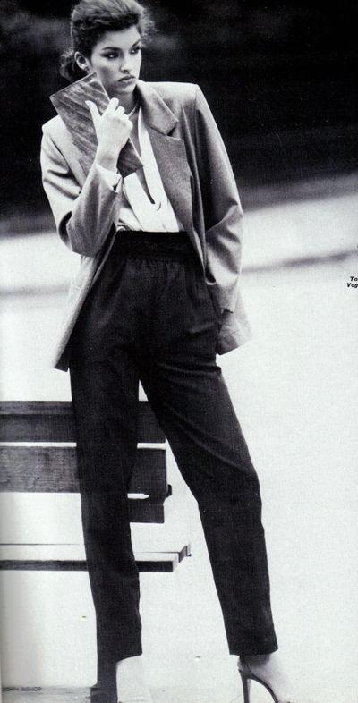 Janice Dickinson // power dressing, trouser suit
