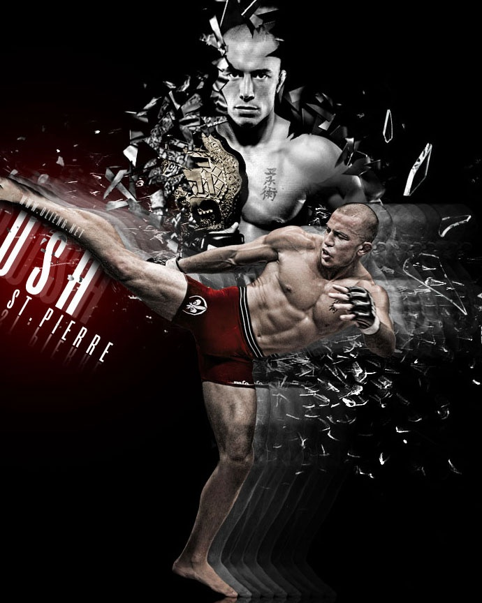 George St. Pierre (GSP), my fav MMA fighter! He is a
