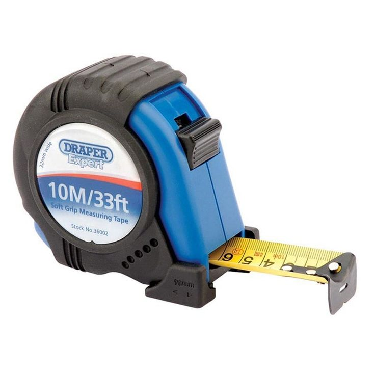 Draper 36002 Expert 10M/33ft Soft Grip Heavy Duty Measuring Tape