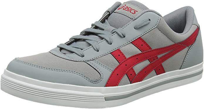 ASICS Aaron Sneakers Damen Herren Unisex Grau/Rot (Stone ...