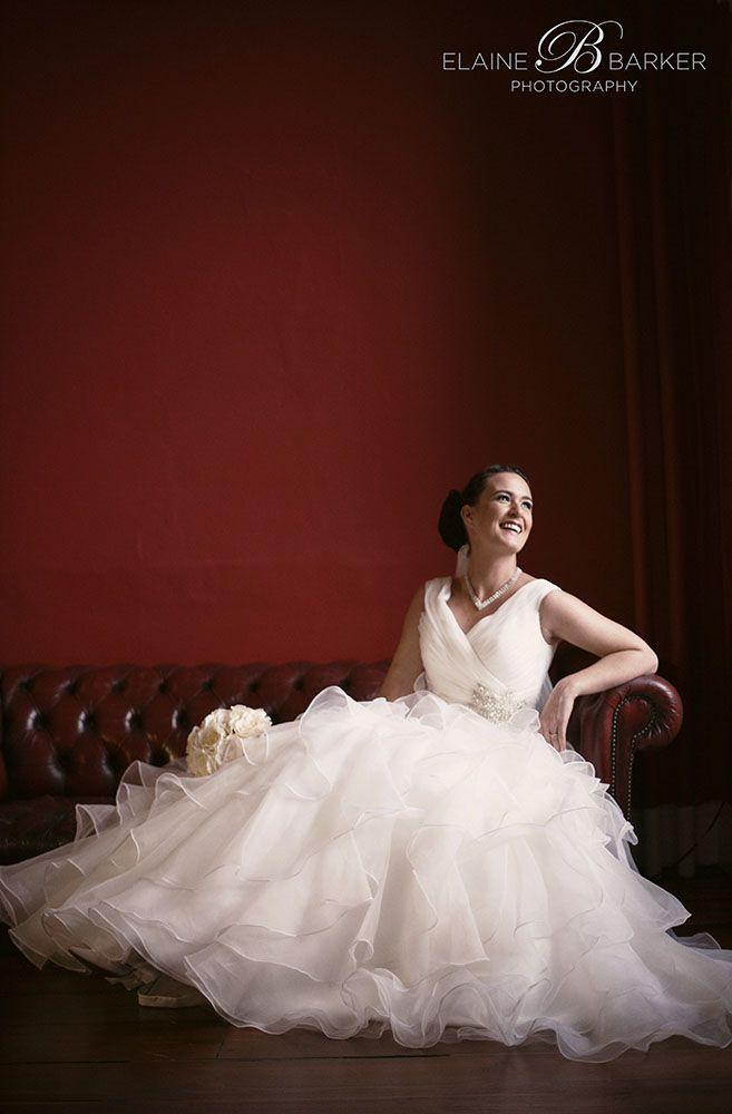 Bellinter House wedding portrait of the bride in a Venus Ballgown.