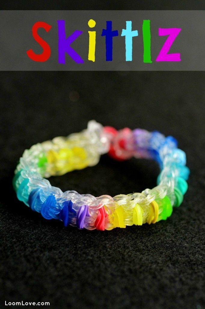 How to Make a Rainbow Loom Skittlz Bracelet #rainbowloom