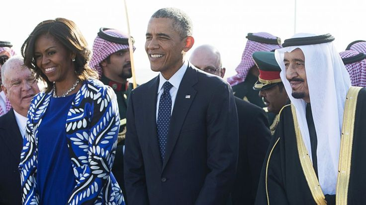 In a country where women have few rights, First Lady Michelle Obama today seemed to lead by example. The pictures say it all. There she was, standing side-by-side with her husband as he stepped off Air Force One in Riyadh today, where, during a brief visit, the president offered condolences for...