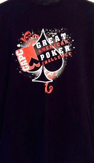 Great American Poker Challenge Gear.Com Poker Player Card Game XL Black T-Shirt #PortandCompany #GraphicTee