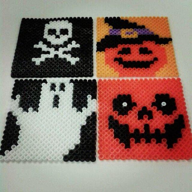 Halloween coasters hama beads by sihirtozu