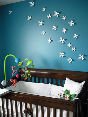 Baby Girl Nurseries - Nursery Ideas: Wall Colors, Wall Decor, Girl Nurseries, Baby Girl, Nursery Ideas, Wall Decal, Wall Flower, Baby Rooms, Nursery Wall