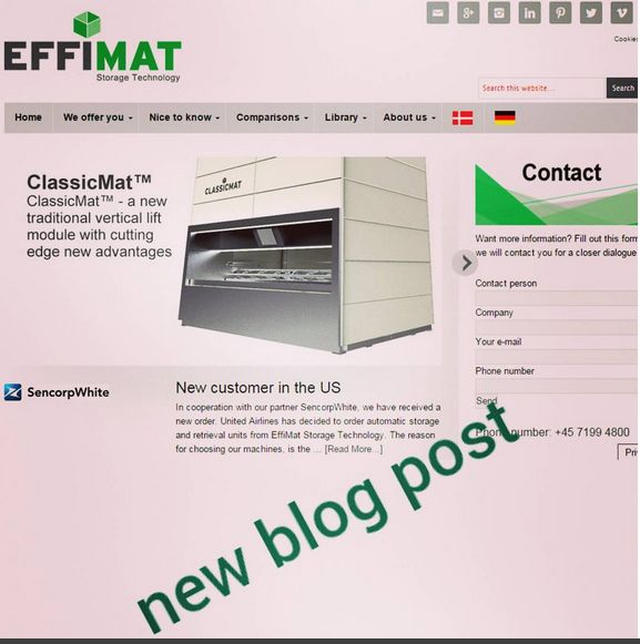 #new blog post online:  Our success in #America continues...United #Airlines has ordered automatic #storage and retrieval units from #EffiMat Storage Technology for optimizing its #inventory.  Read more on www.effimat.com  #EffiMat #follow #followme #blog #website #news #nyheder #neuigkeiten #readmore #odense #mitodense #fyn #denmark #US #customer #service #order #success