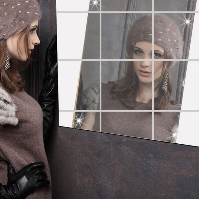 Special offer Mirror Wall Stickers Latest design 0.1MM square mirror decorative adhesive film can be attached to the wall of new fashion 7Z just only $3.80 - 9.66 with free shipping worldwide  #wallstickers Plese click on picture to see our special price for you
