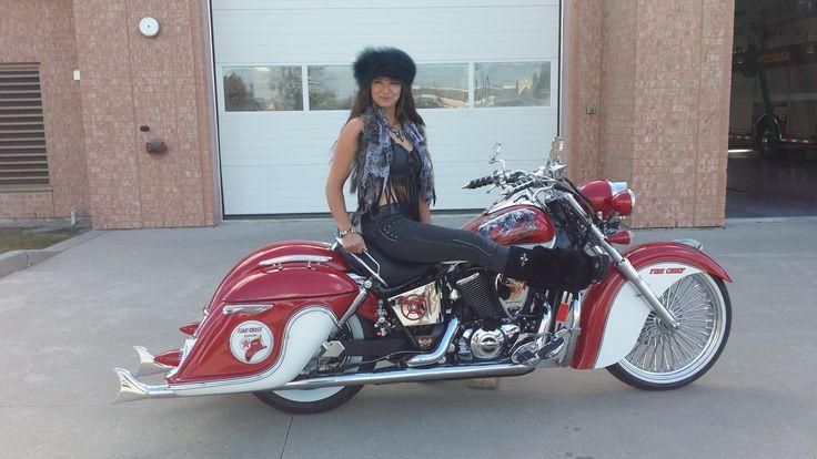 Texaco themed bike built at Motorcycle Enhancements Oakville Ontario Canada