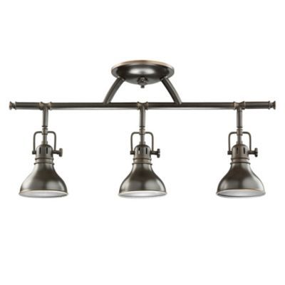 Might be cute over dining table - Jones 3-Light Adjustable Ceiling Mount Bronze via Ballard Designs $249