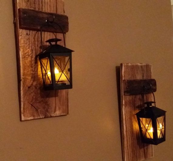 Rustic Wood Candle Holder With Lantern 12 Quot X 5 Quot Wood
