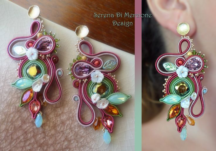 Soutache EARRINGS. Designed by Serena Di Mercione